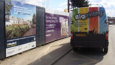 Hoarding installed at Newbury