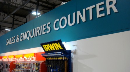 5mm Perspex Cut Lettering sitting proud of painted wall