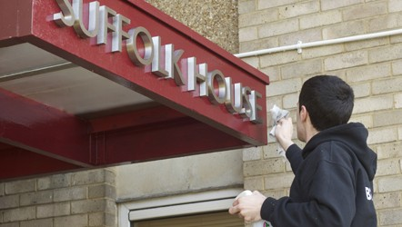 Stainless Steel Built up Lettering, installed at Luminus