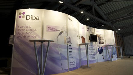 Custom built exhibition stand to display product & flatscreen