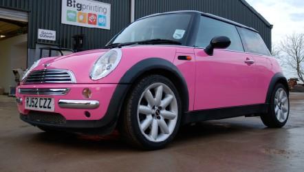 Mini colour change -  pink vinyl