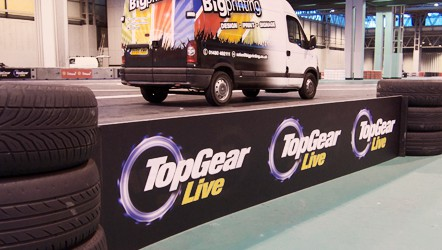 4mm Correx, installed at NEC for Top Gear