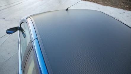 Carbon fibre effect roof
